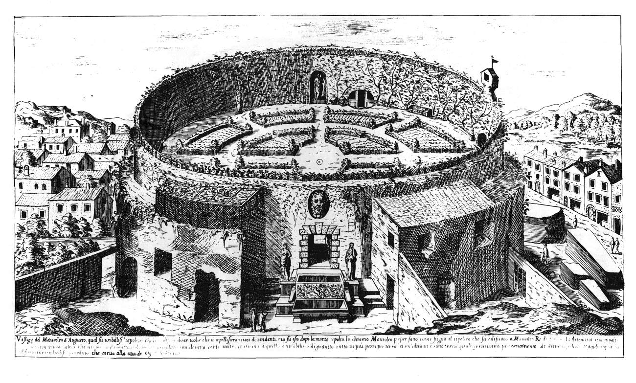 Rome, Italy, Mausoleum of Augustus, Drawing schema