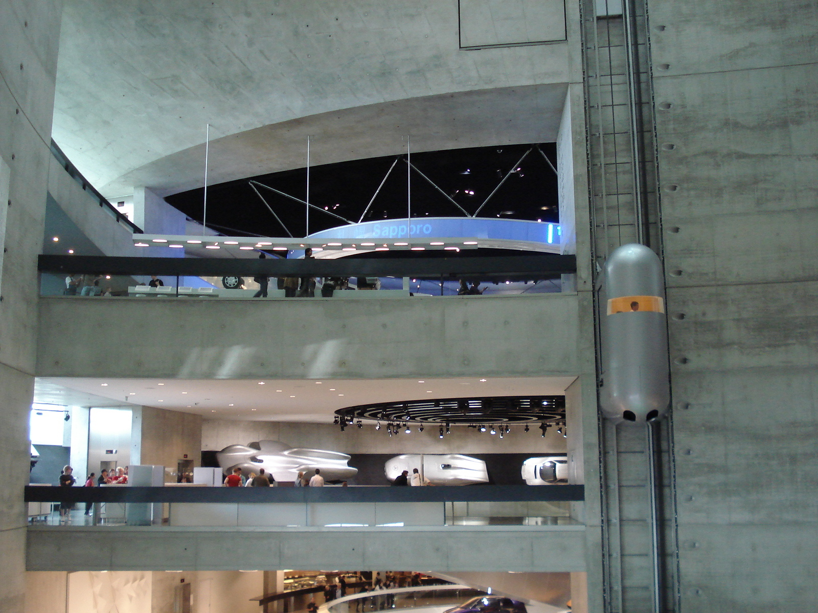 Stuttgart, Germany, Mercedes-Benz Museum, Interior view, Showroom