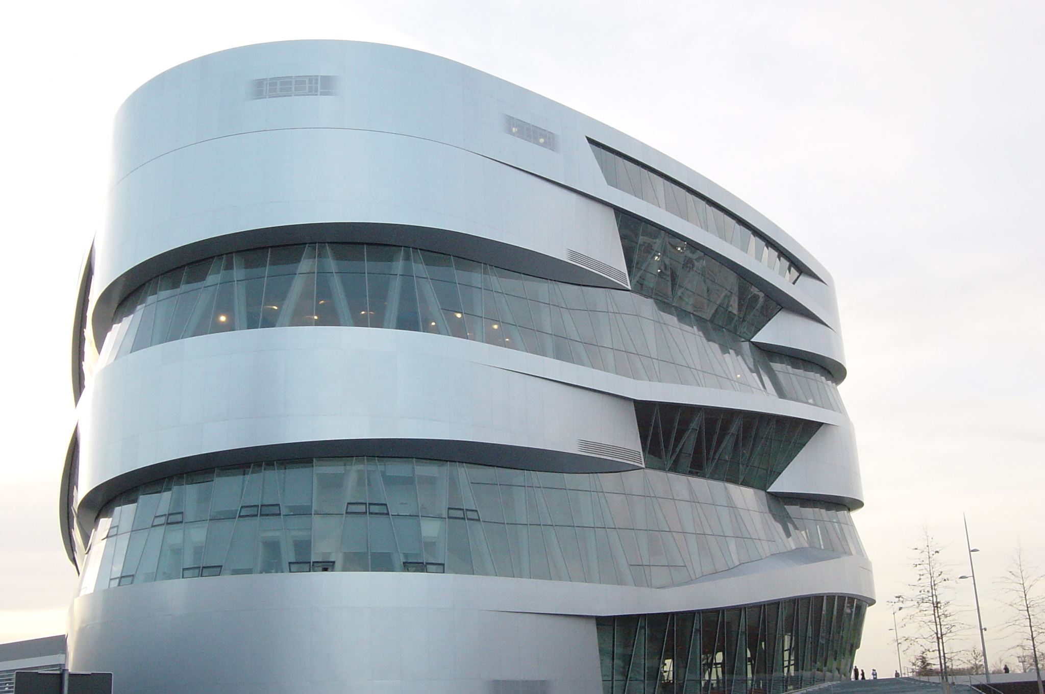 Stuttgart, Germany, Mercedes-Benz Museum, Panoramic  view