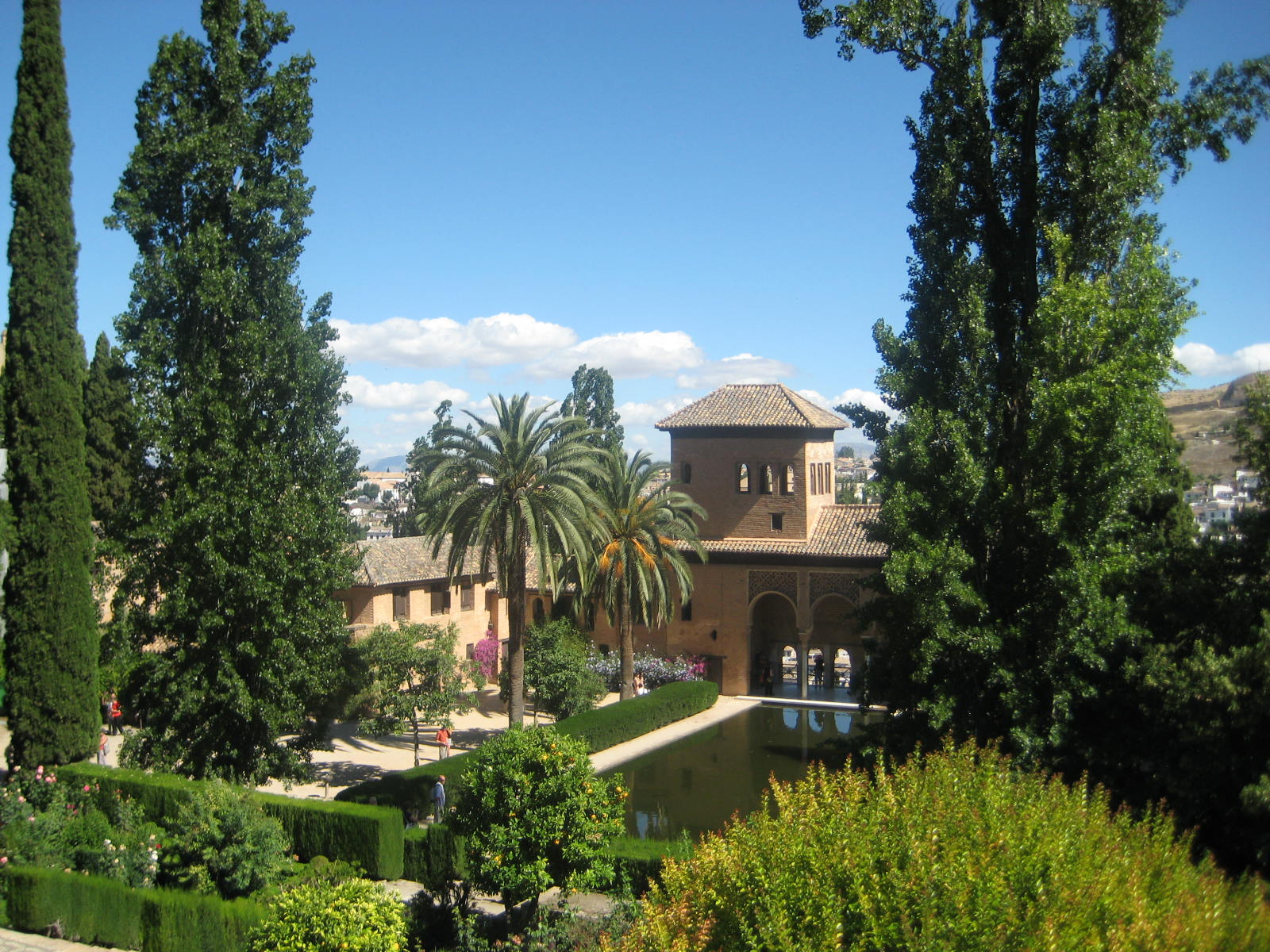 Granada, Spain, Alhambra inside garden view