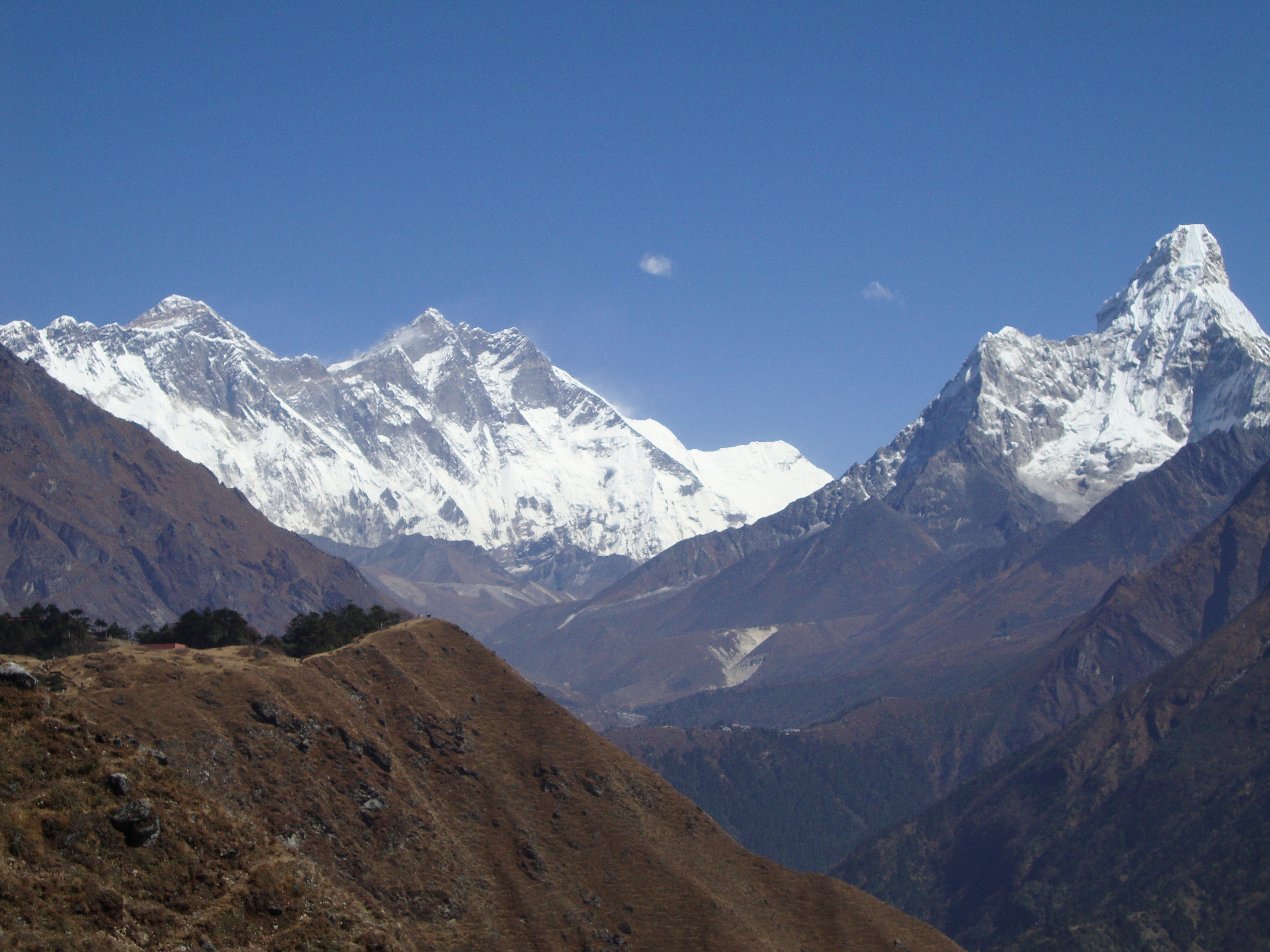 Nepal, Asia, Mount Everest panoramic view