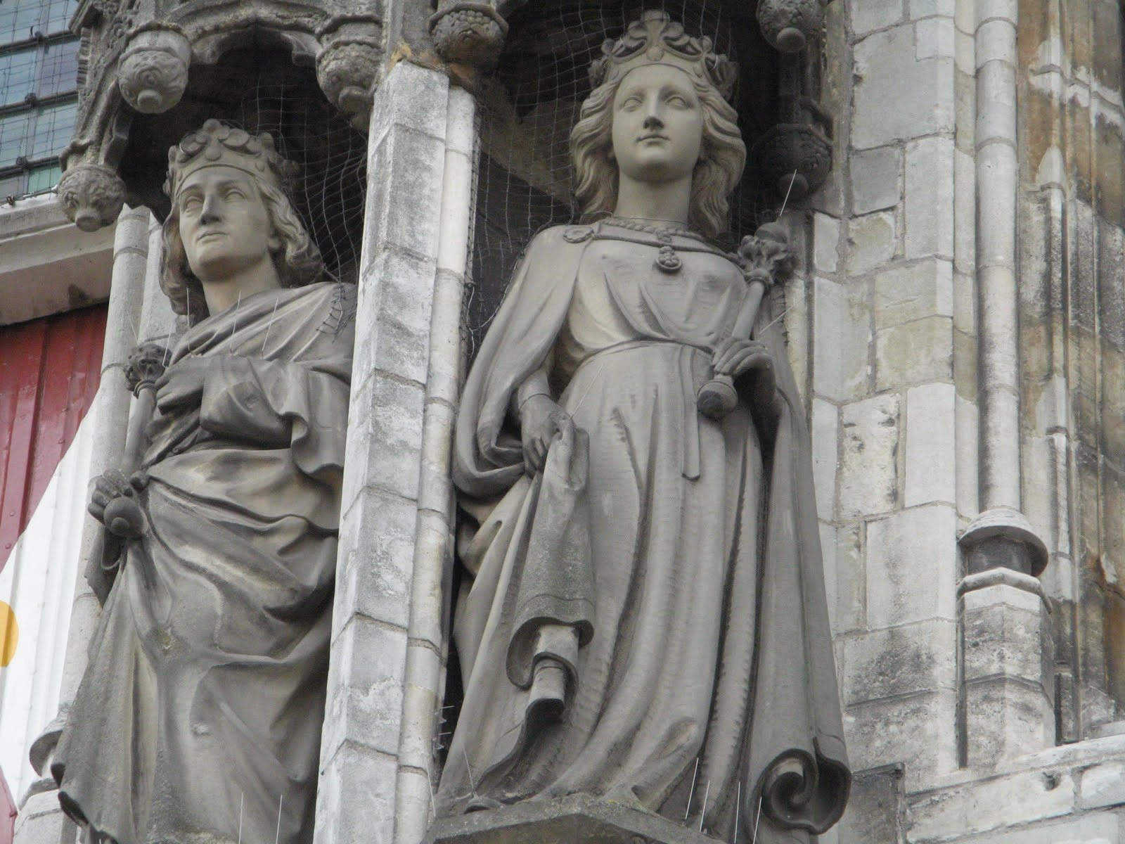 Zeeland, Netherlands, Counts and Countesses of Holland and Zeeland on the facade of the Town Hall in Middelburg