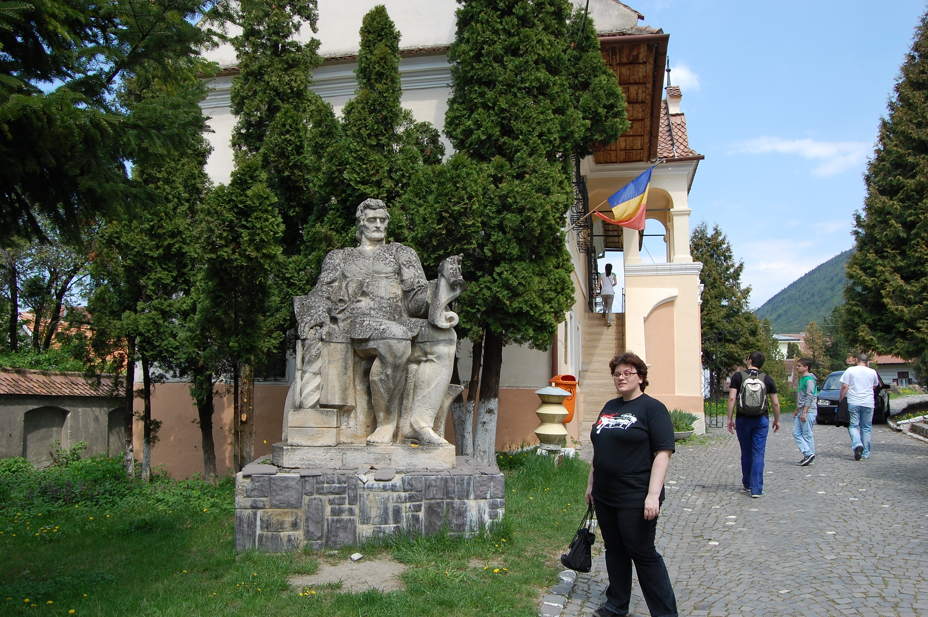 Brasov, Romania, Statue of Coresi deacon and the first Romanian School