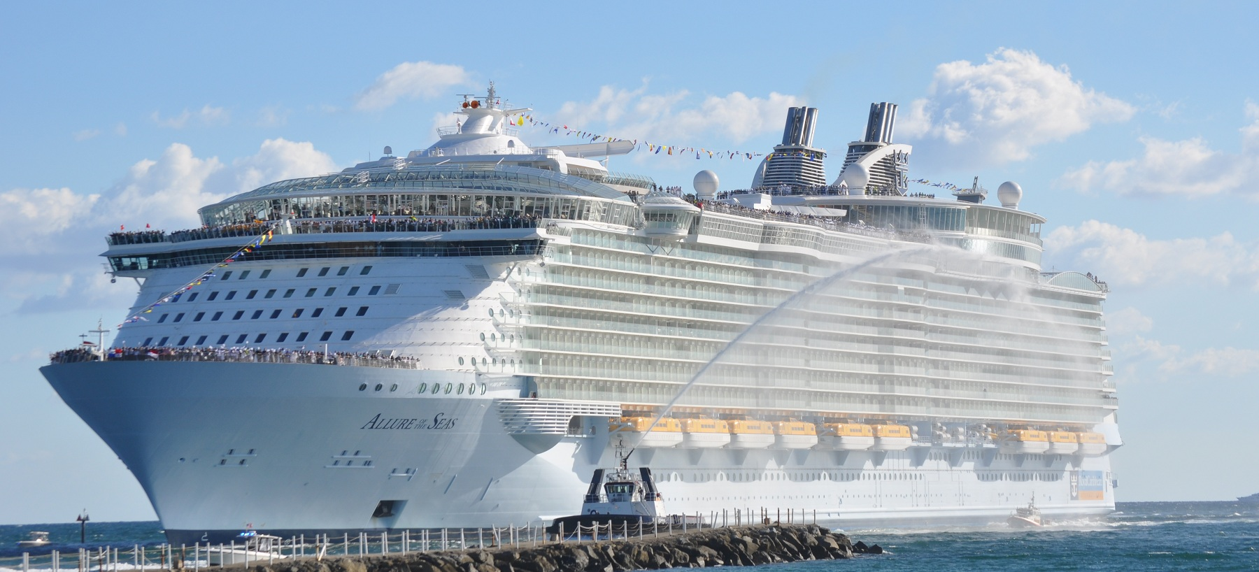 Allure of the Seas, Front view