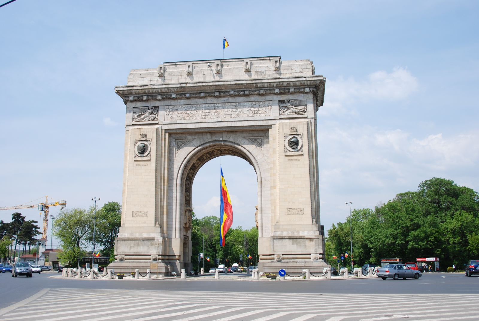 Arch of Triumphe, Bucharest, Romania, Front view