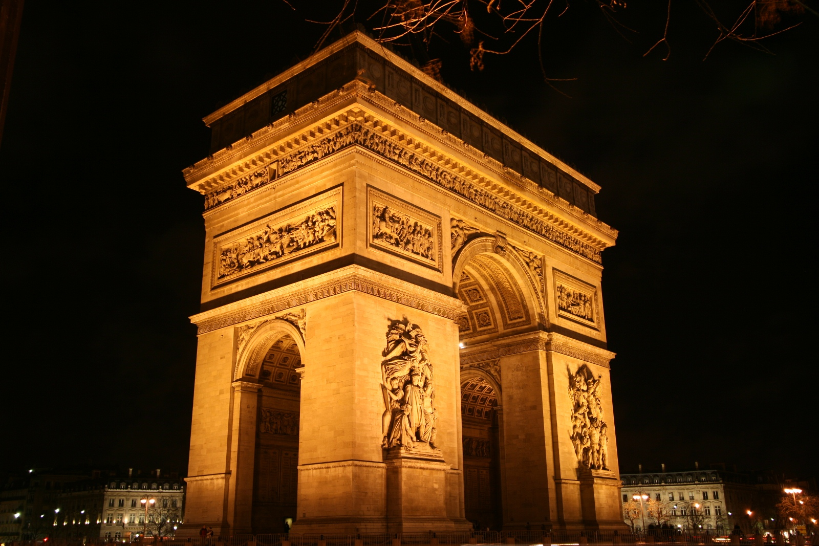Arch of Triumphe, Paris, France, Night view