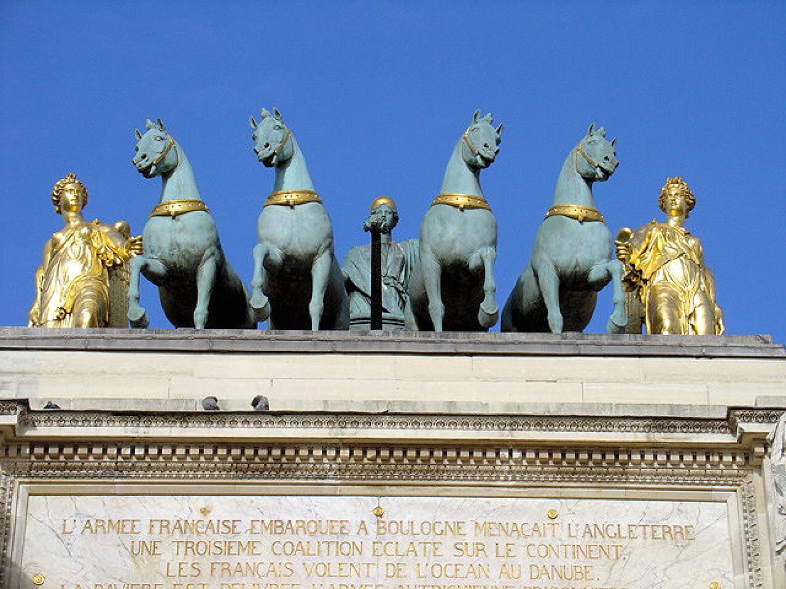 Arch of Triumphe, Paris, France, Statues above