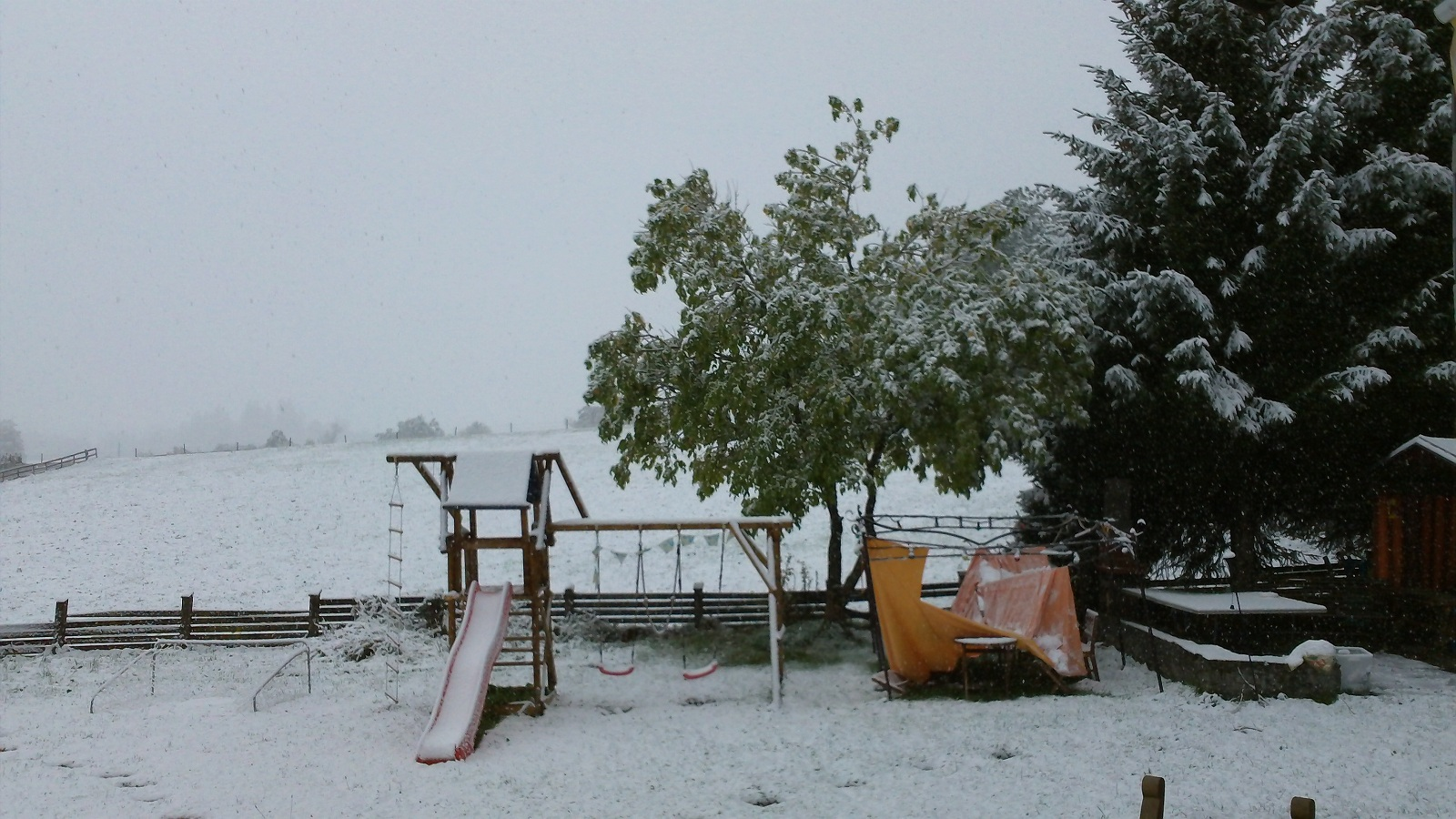 Winter Holiday, Radstadt, Austria, Snowing day