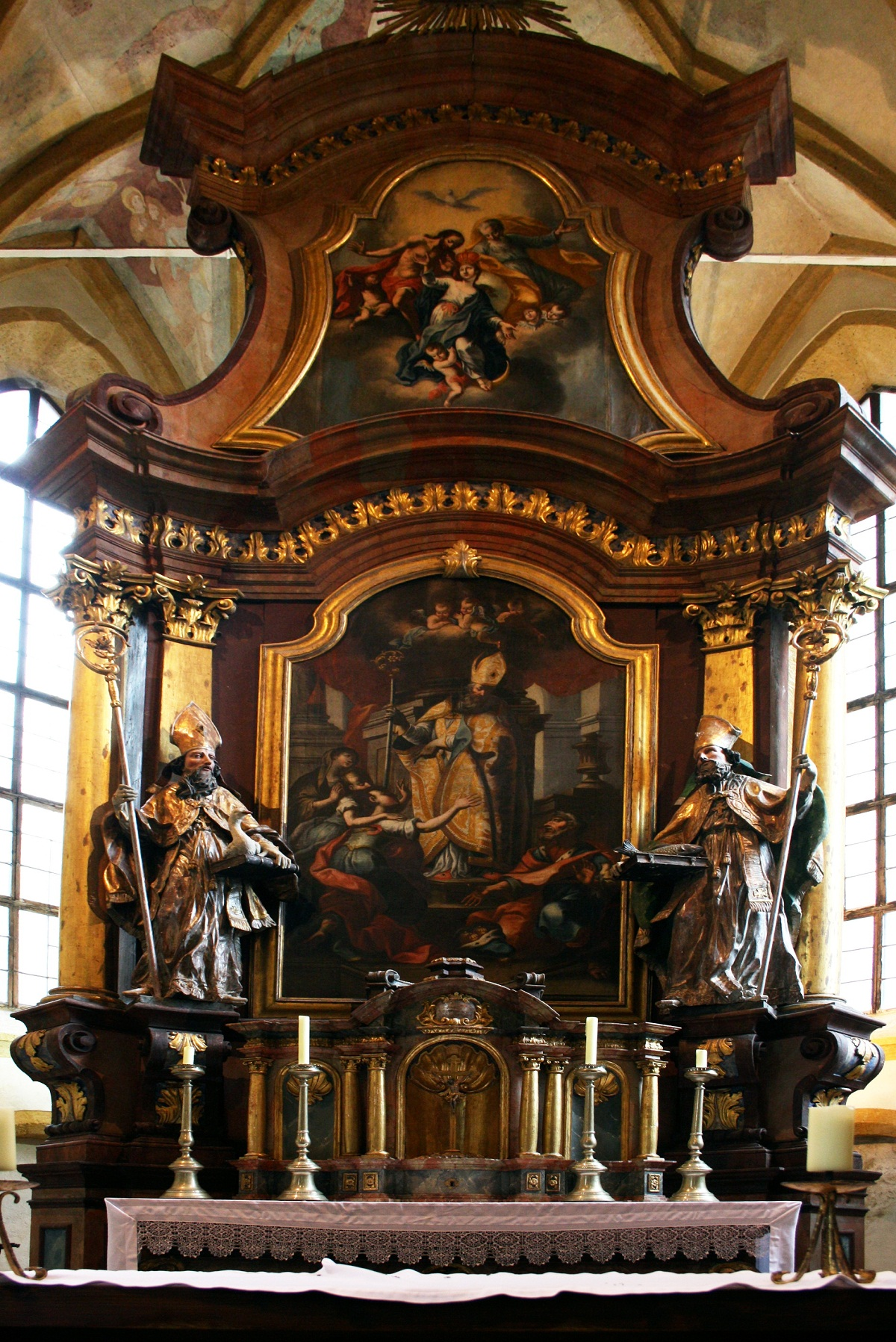 Bad Gastein, Austria, Saint Nicholas Church altarpiece