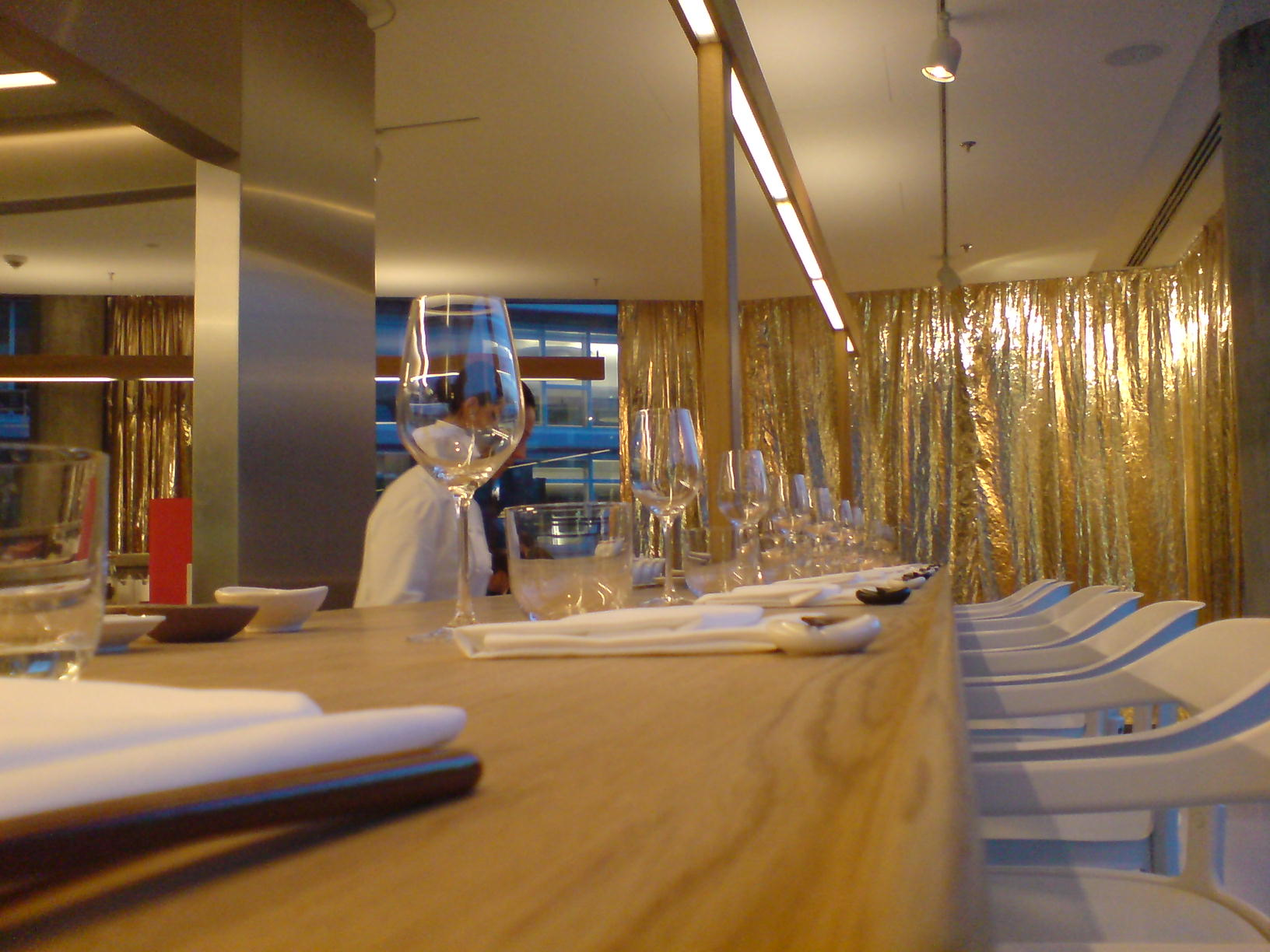 Famous Restaurants in Barcelona, Spain, Dos Palillos serving table