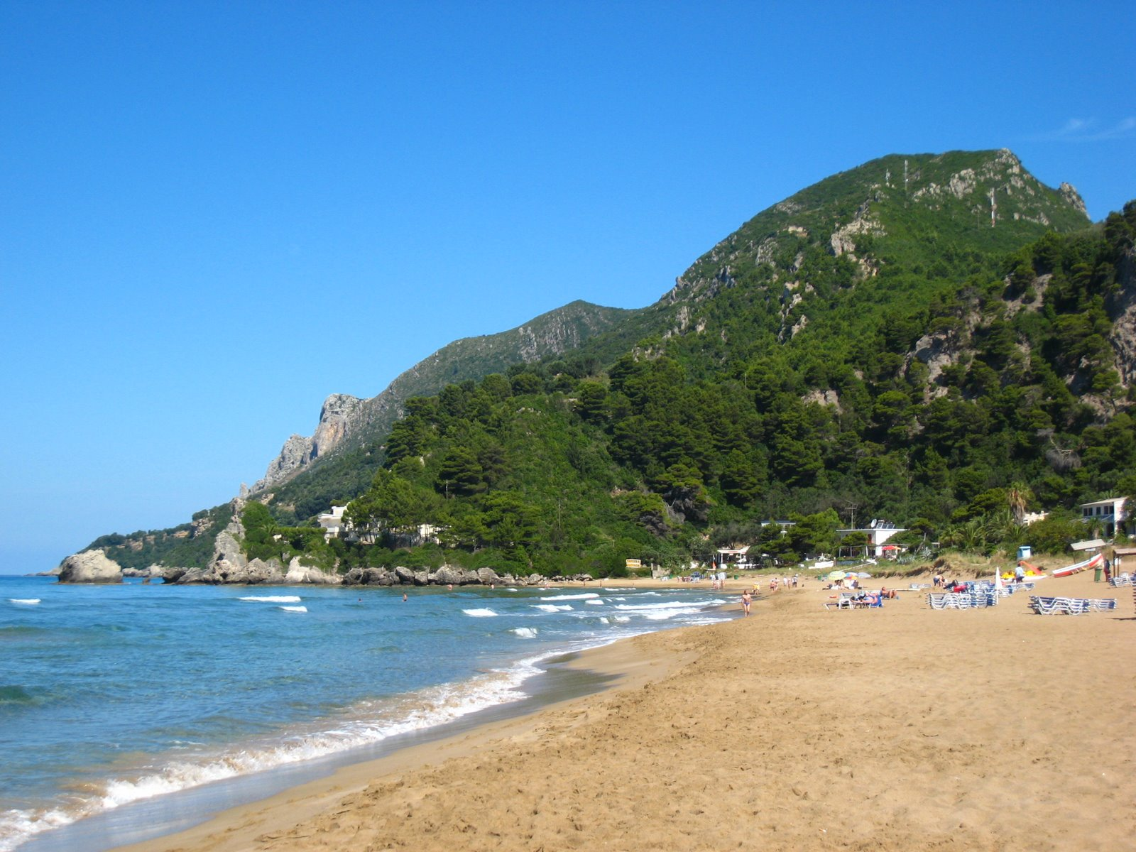 Beaches in Corfu, Corfu, Greece, Glyfada coastal view