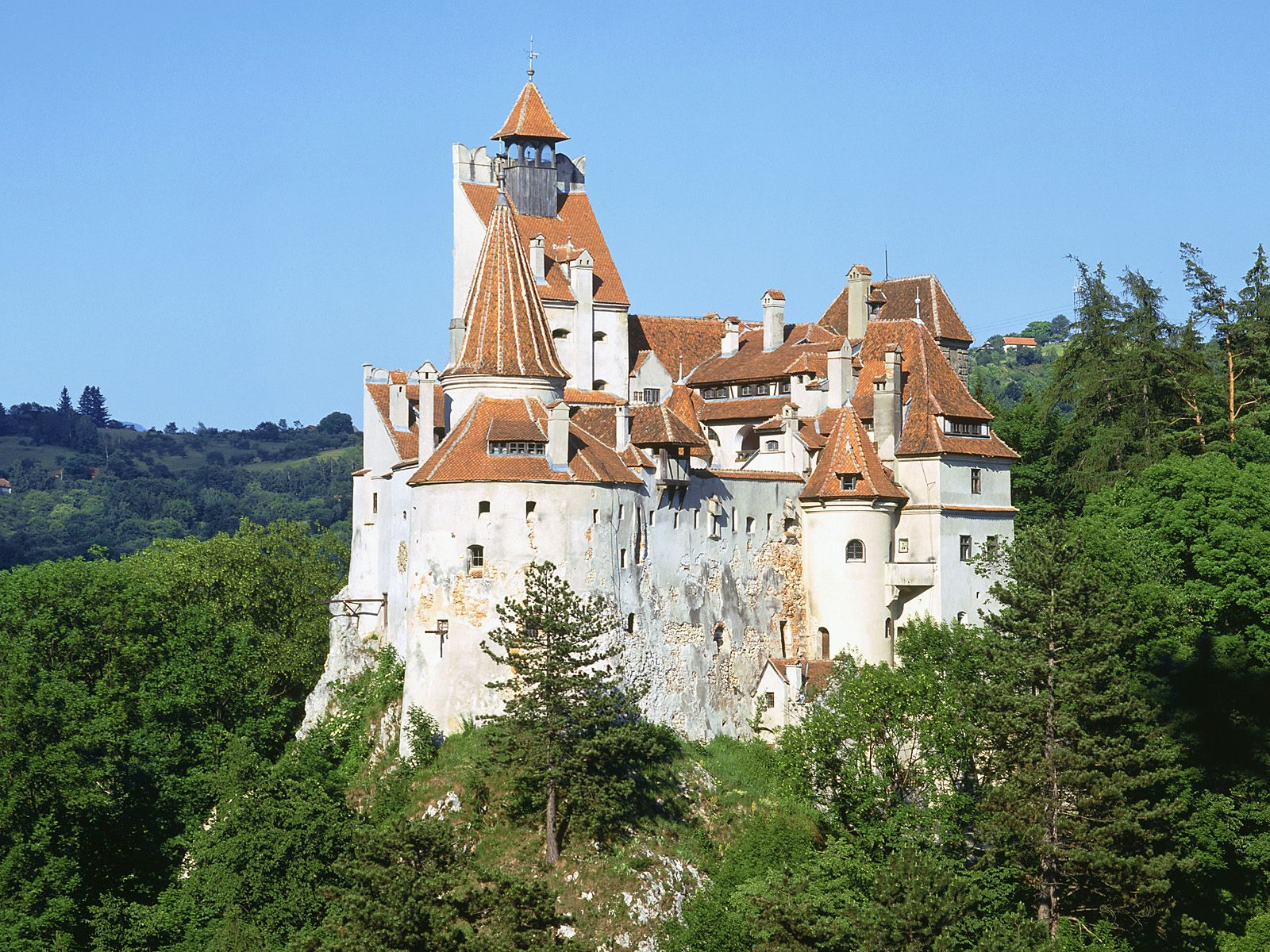 Bran Castle, Romania, Panoramic view