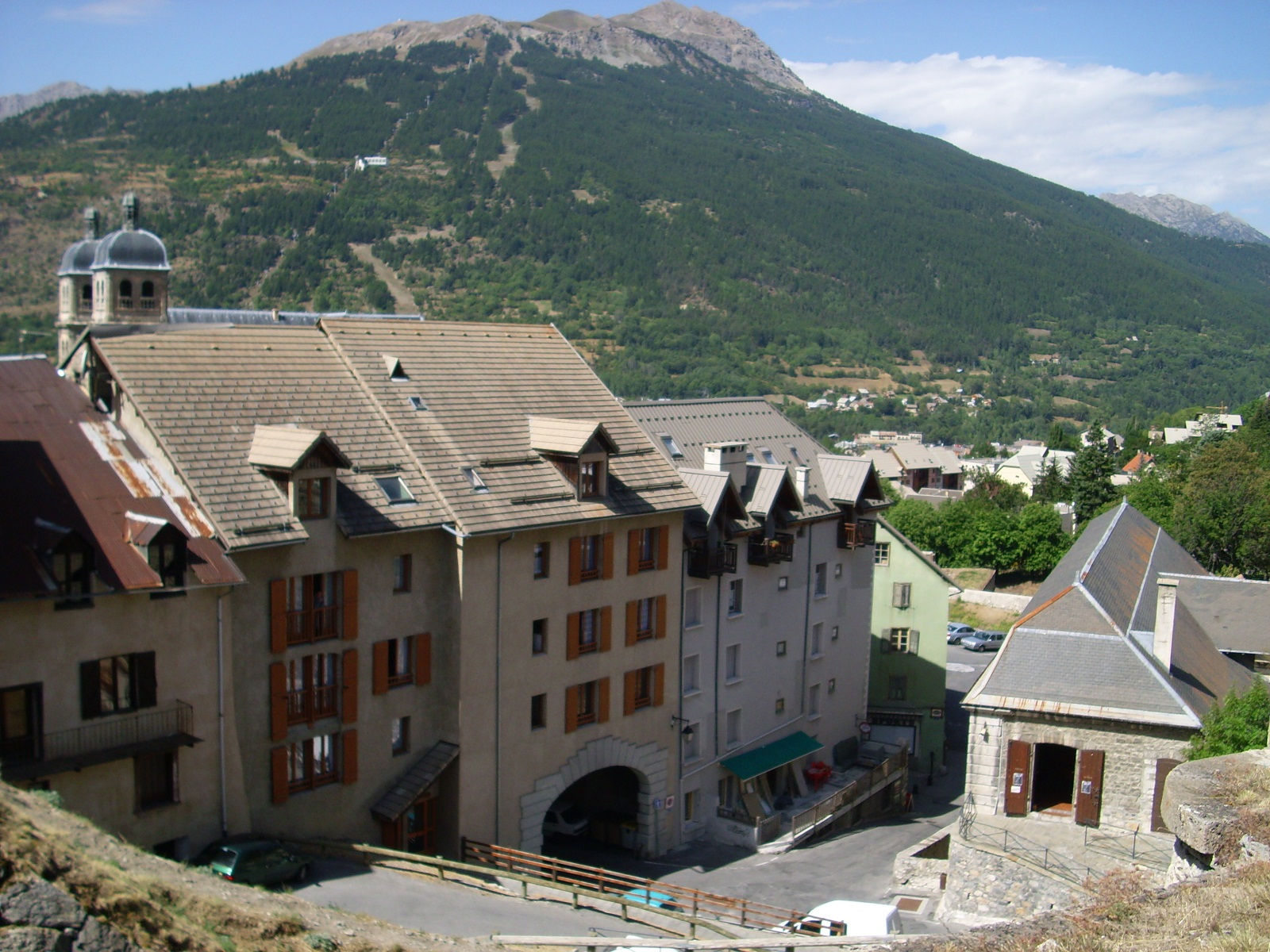Briancon, France, Mountain view from the city