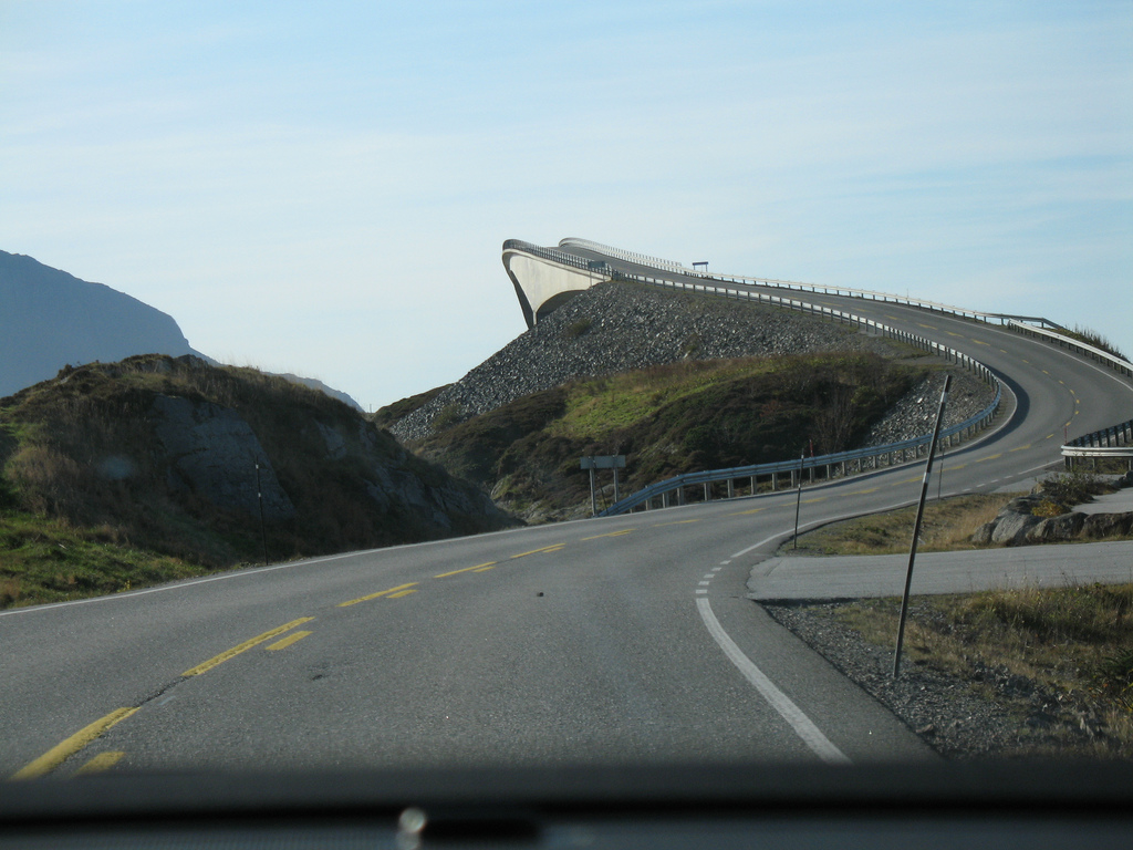 Car Holiday, Norway, Atlantic Road overview