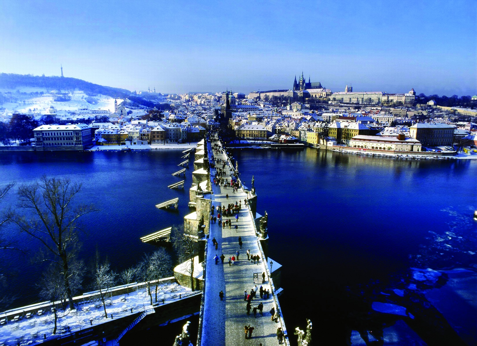 Christmas Holiday, Prague, Czech republic, Bridge overview