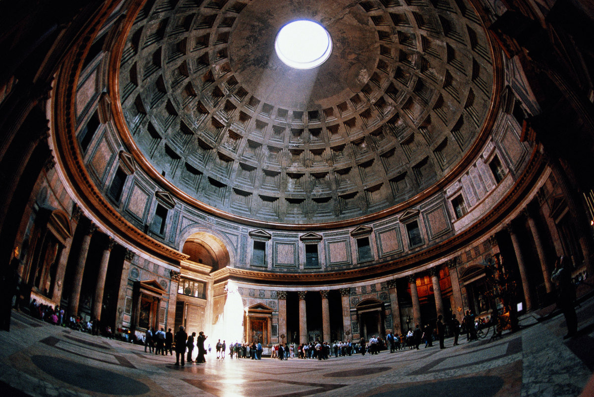 City Break Holiday, Rome, Italy, Pantheon interior view