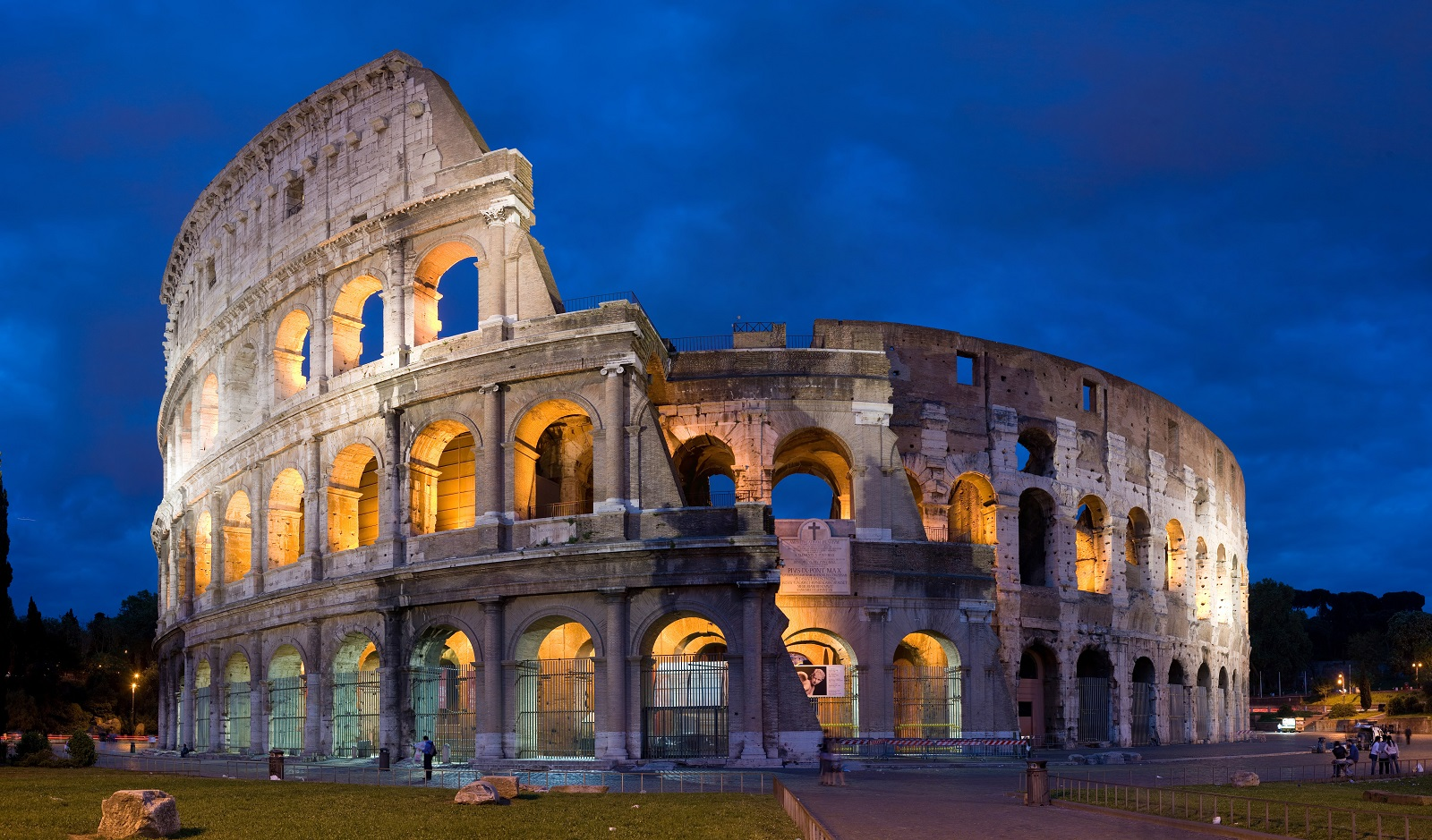 City Break Holiday, Rome, Italy, Colosseum at night