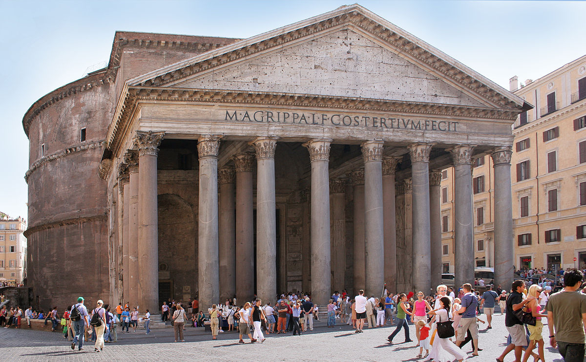 City Break Holiday, Rome, Italy, Pantheon front view at daylight
