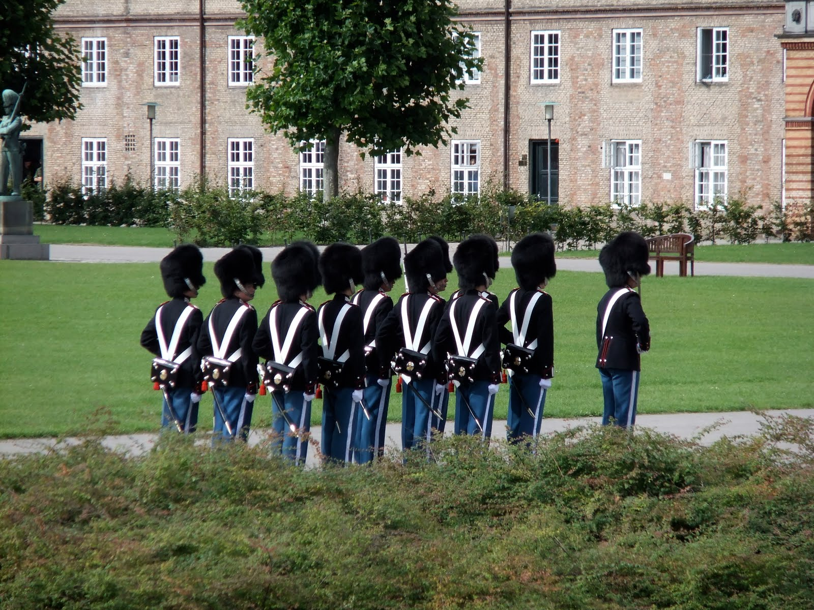 Copenhagen, Denmark, Royal soldiers in Kings Garden