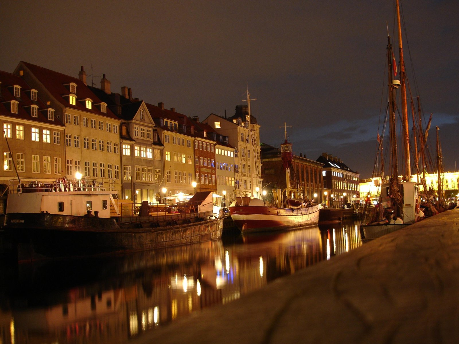 Copenhagen, Denmark, Nyhavn at night