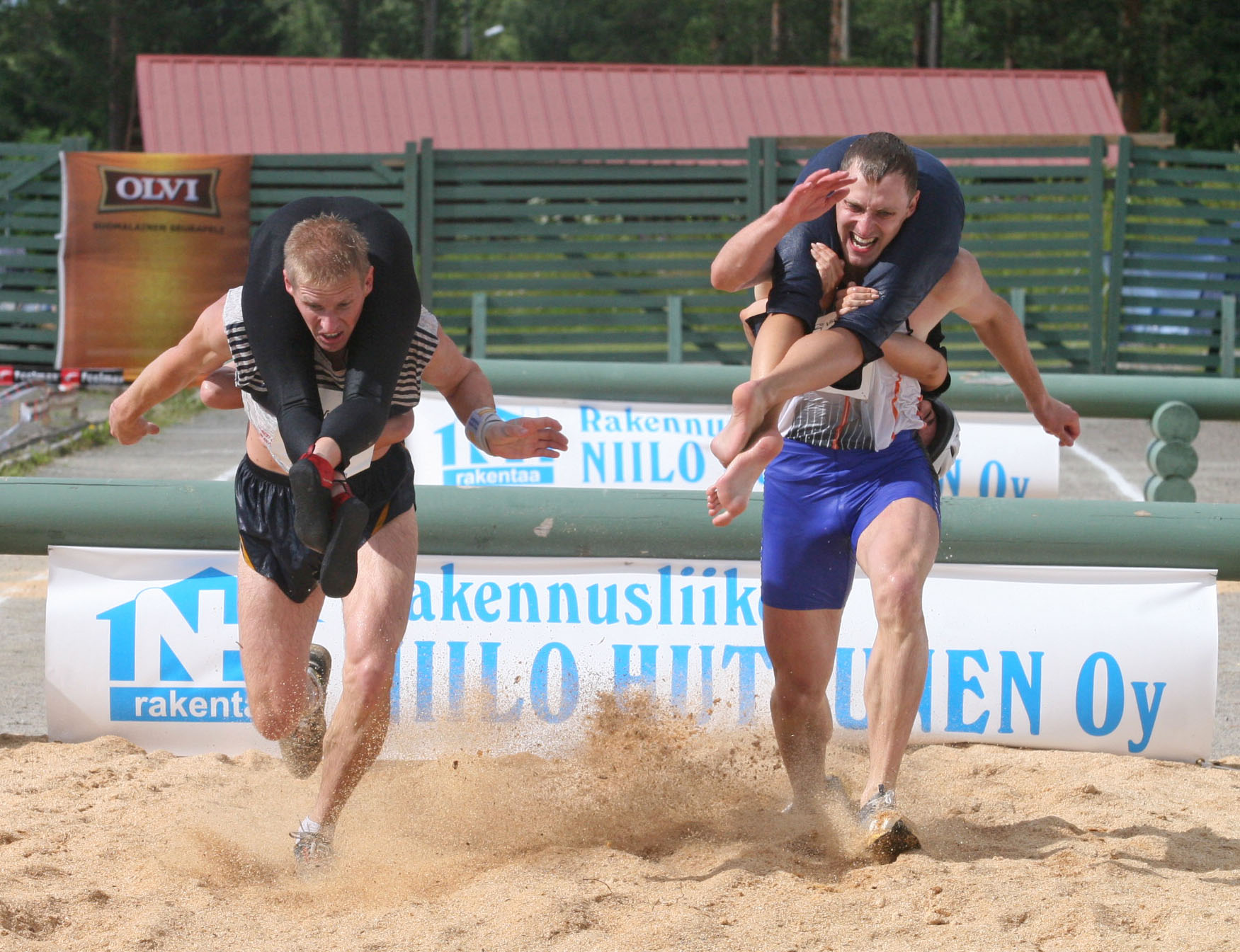 Exciting Destinations, Sonkajarvi, Finland, Wife Carrying World Championships, Racers 02