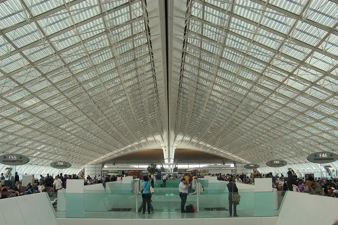 France Holiday, Paris, Charles De Gaulle Airport waiting area
