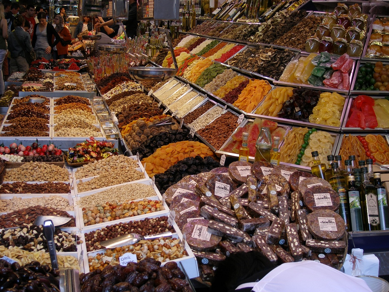 Fresh Food Market, Barcelona, Spain, La Boqueria presentation2