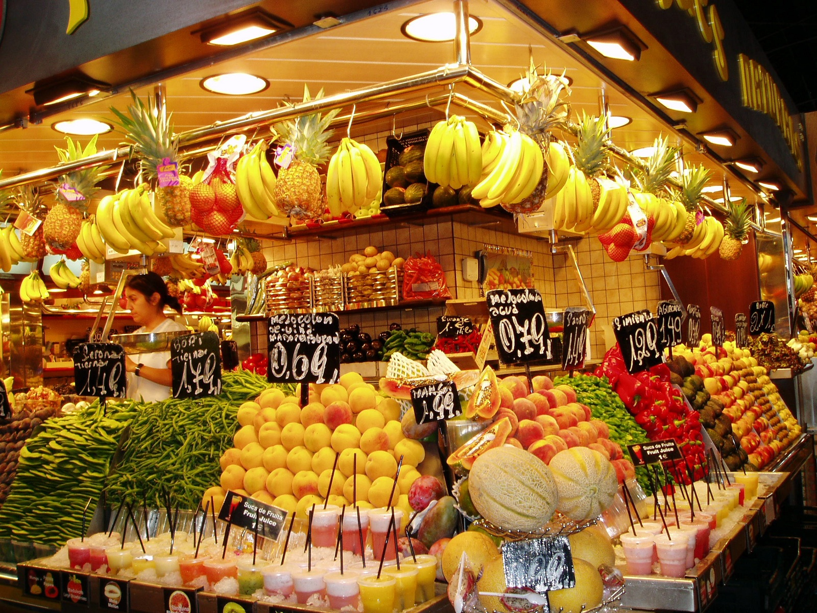 Fresh Food Market, Barcelona, Spain, La Boqueria presentation