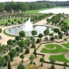 Beautiful Garden Holiday, Versailles Palace Gardens, France, Orange trees garden upview