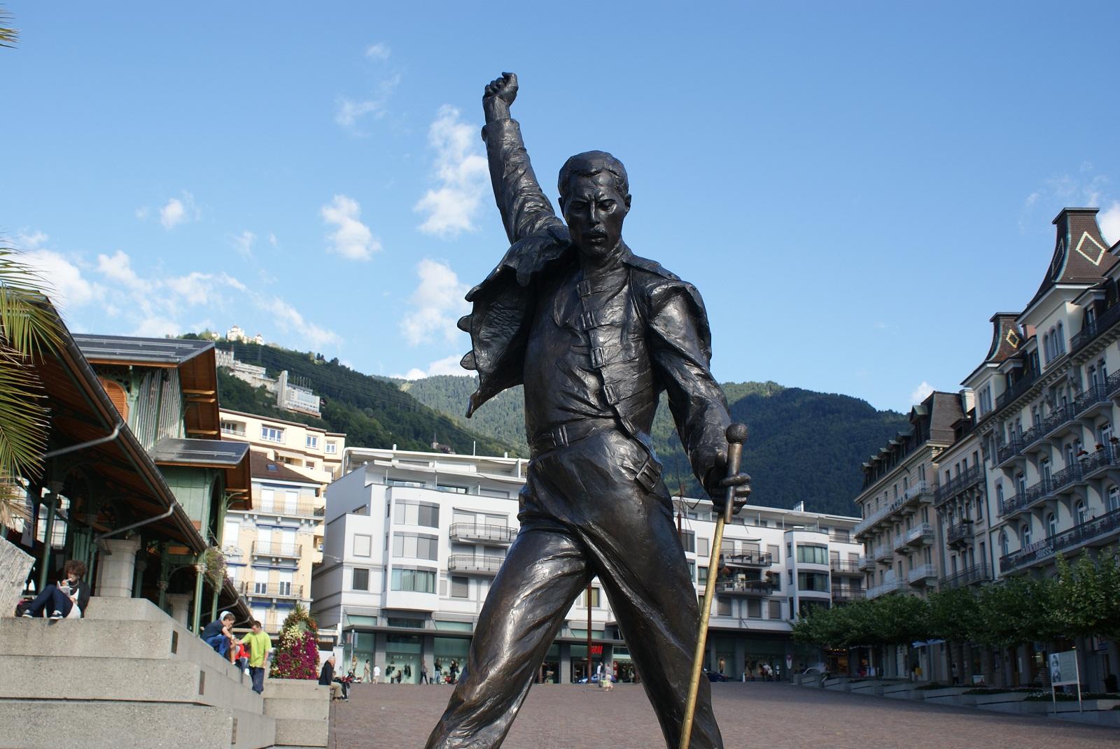 Montreux Switzerland  city images : Montreux, Switzerland, Europe, Freddy Mercury statue