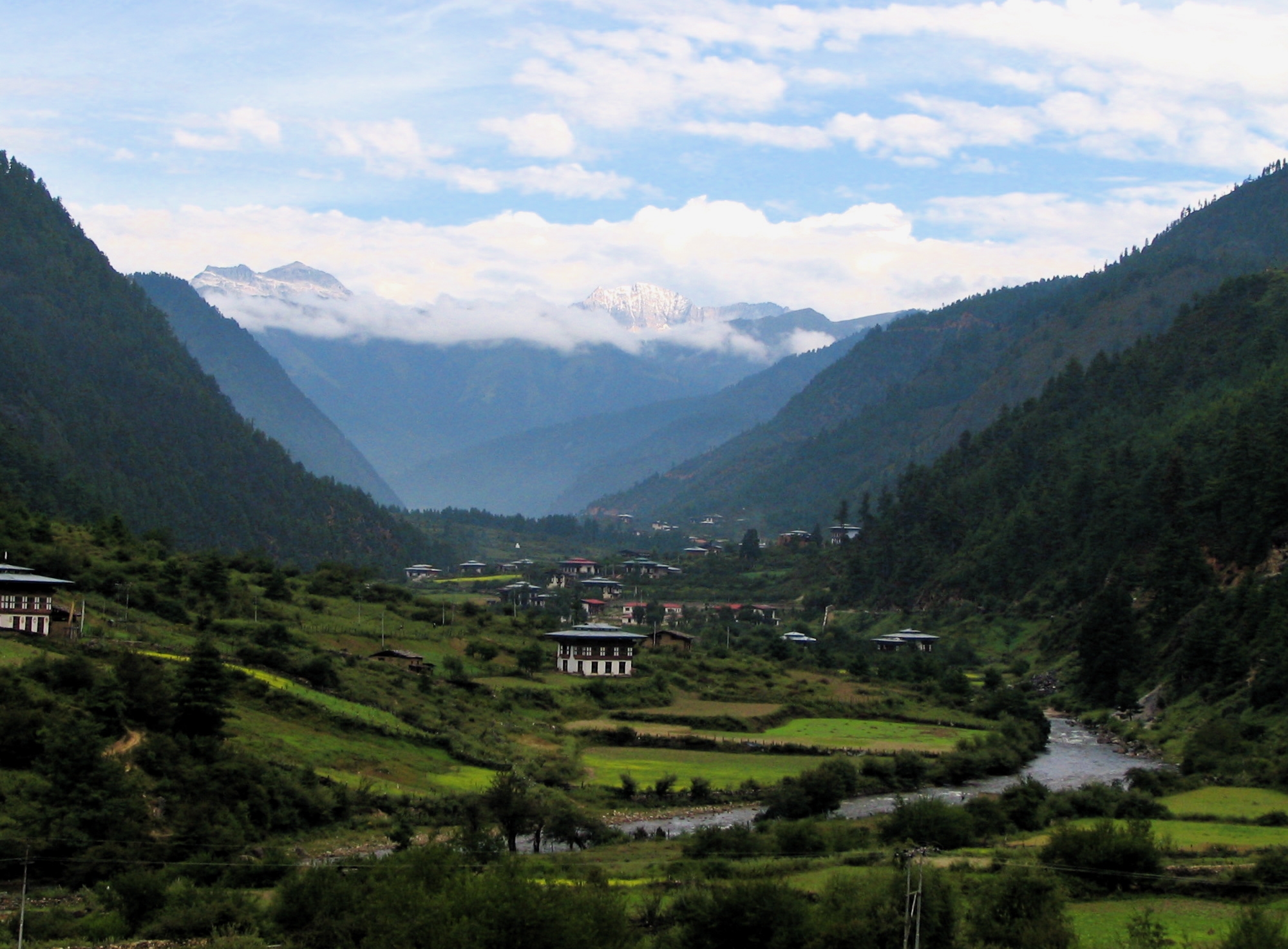 Happiness Holiday, Bhutan, Asia, Valley panoramic view