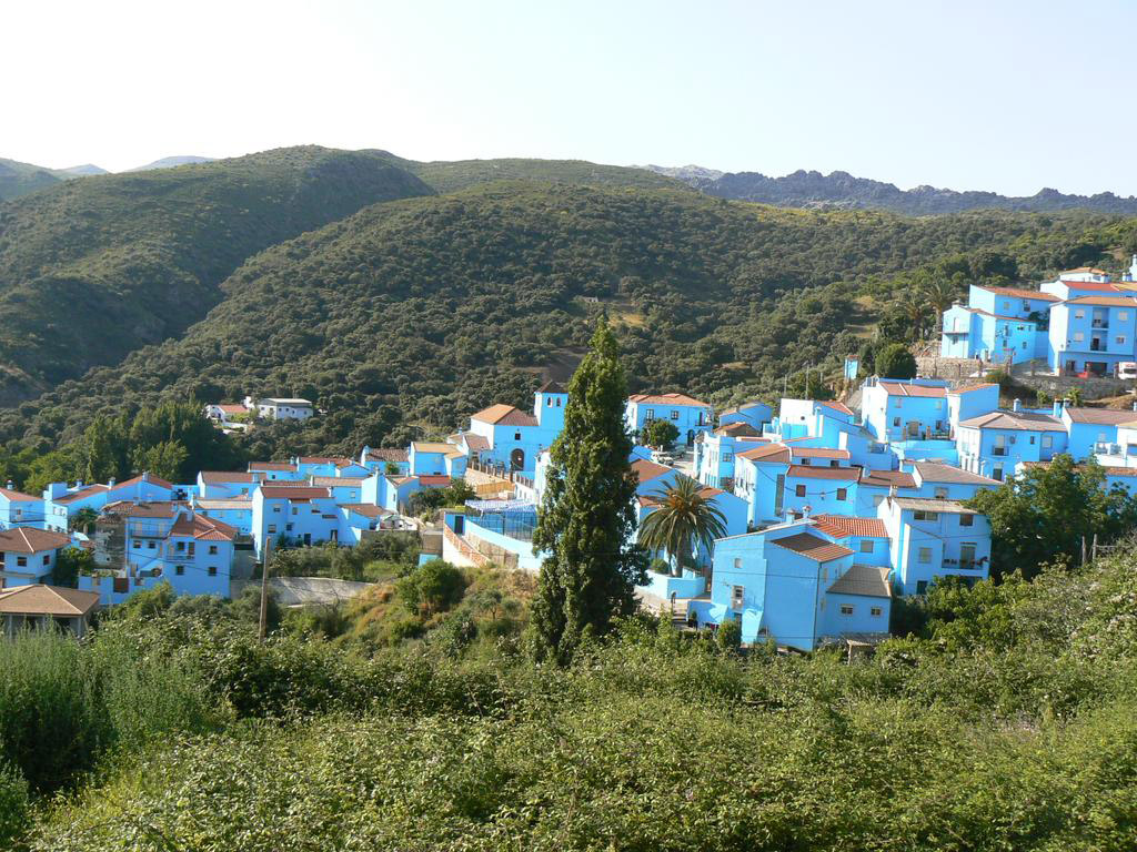 Happiness Holiday, Juzcar, Spain, Europe, Panorama view