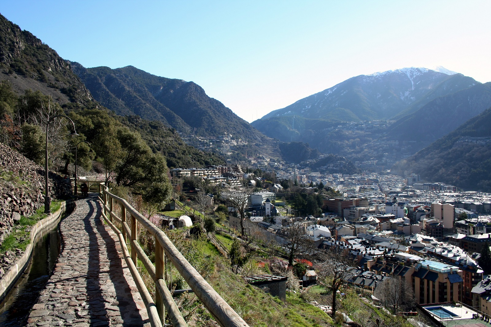 Happiness Holiday, Andorra, Europe, La Vella city view