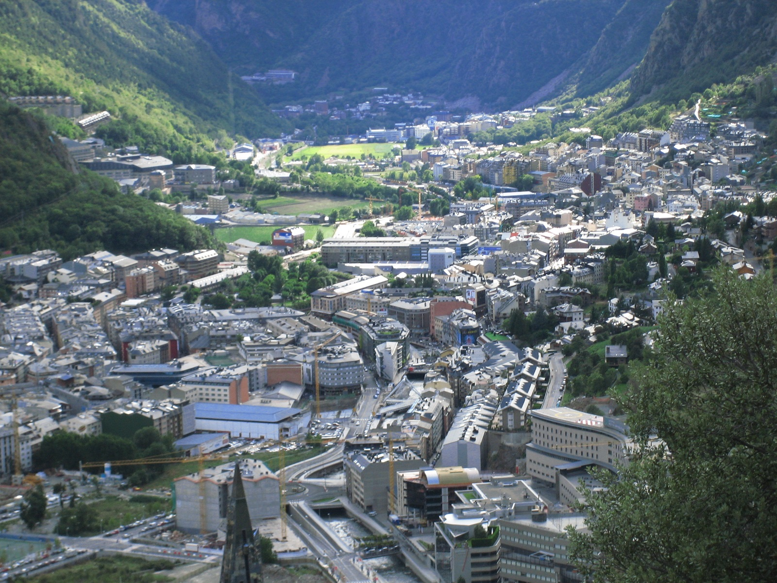Happiness Holiday, Andorra, Europe, City panorama view