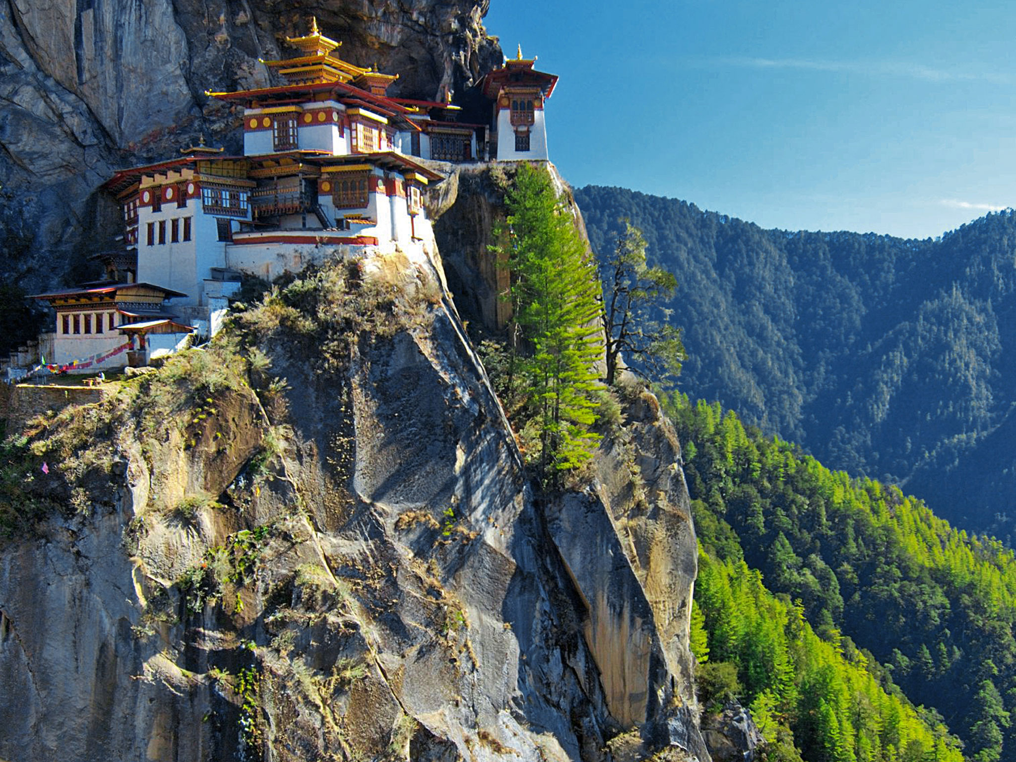 Happiness Holiday, Bhutan, Asia, Monastery on cliffs