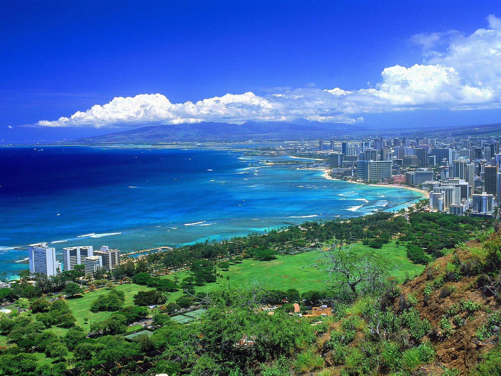 Hawaii, USA, Oahu panorama