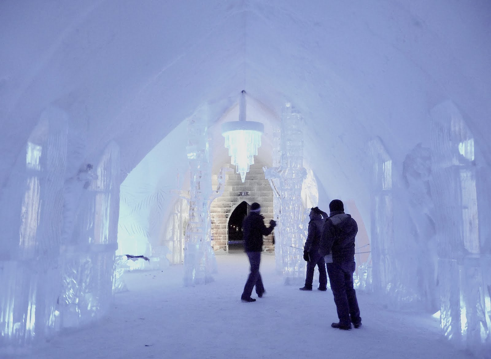 Ice Hotel Holiday, Quebec, Canada, Hotel de Glace overview