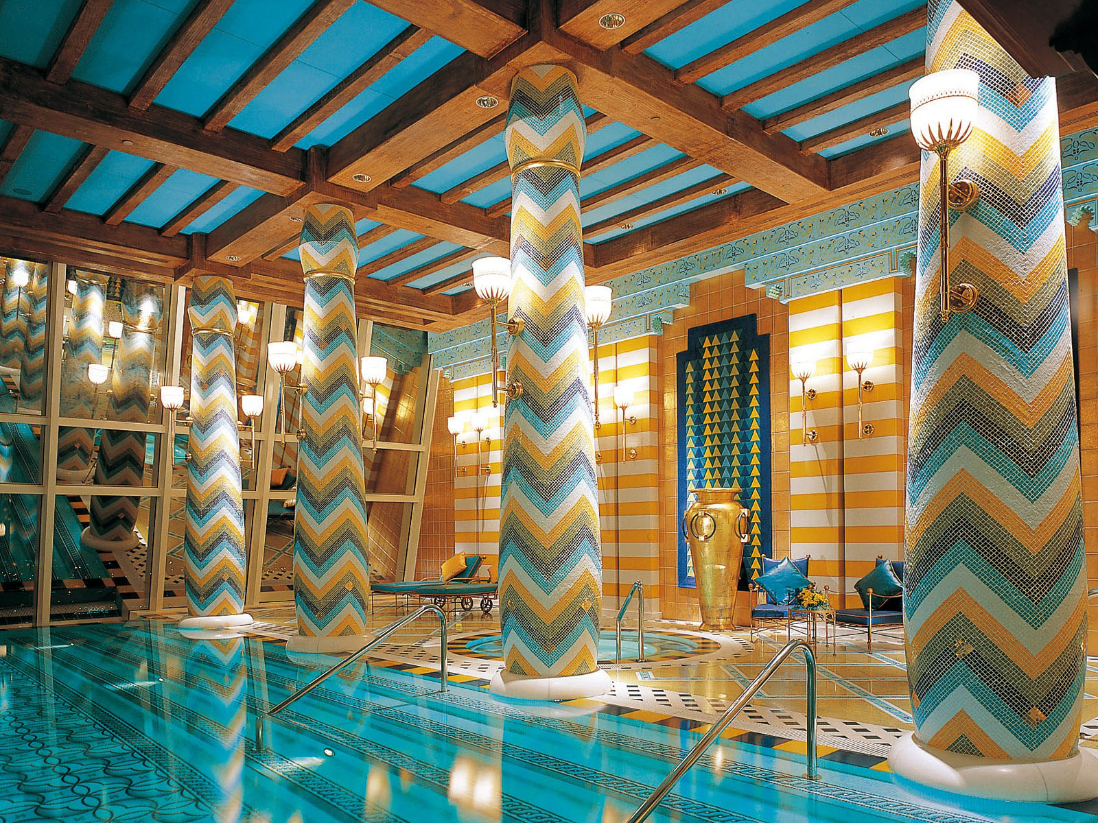 Impressive Swimming Pool Dubai Uae Burj Al Arab
