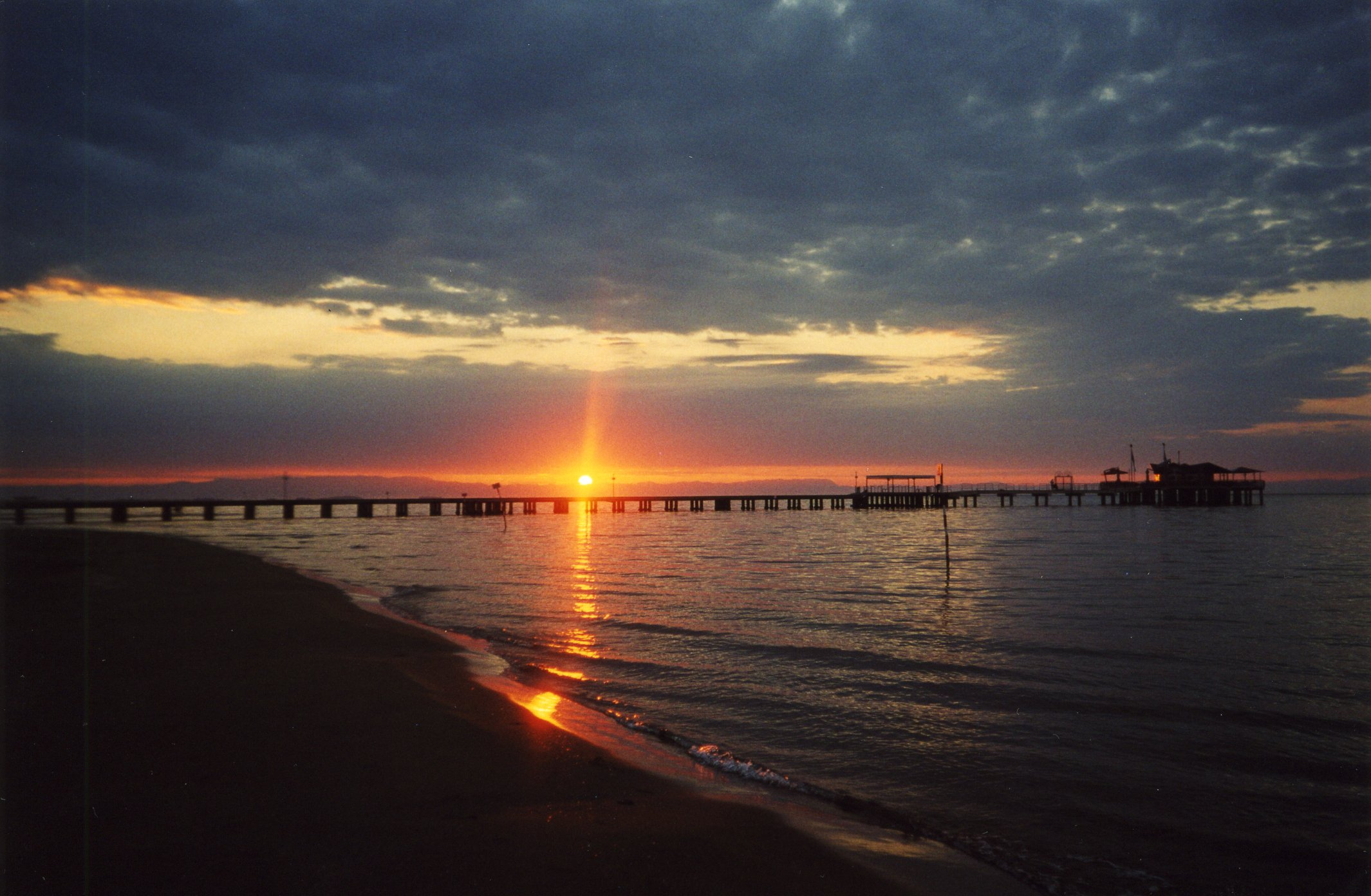 Lignano italy sunset
