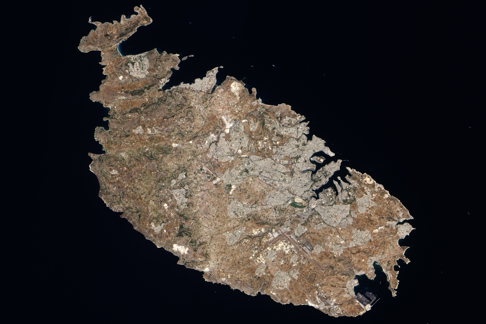 Malta, Europe, Satelite view