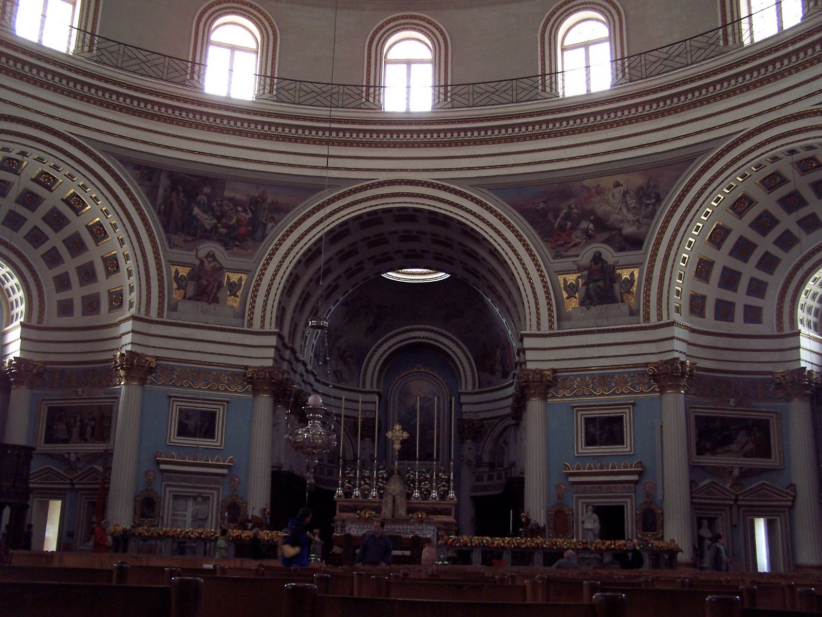 Malta, Europe, Mosta Dome interior