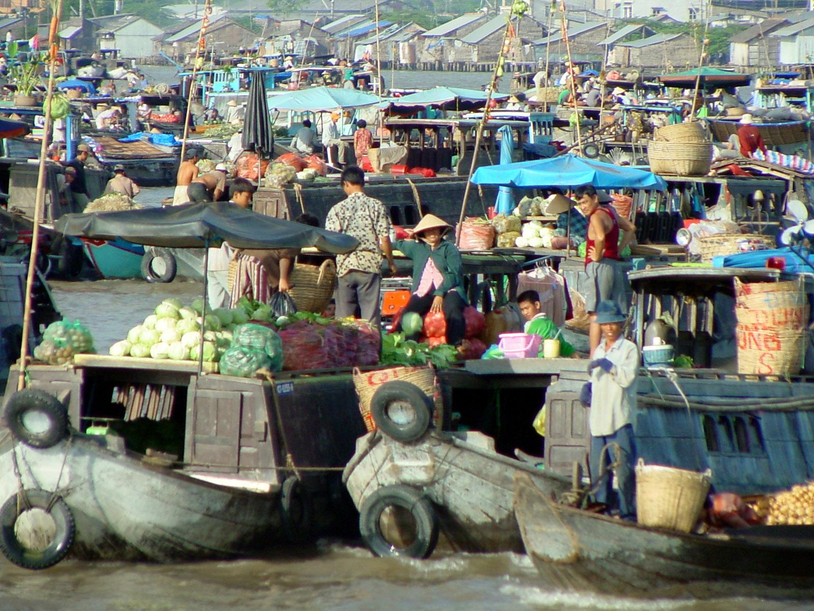 The Mekong Delta, Vietnam, Asia, Floating Market2