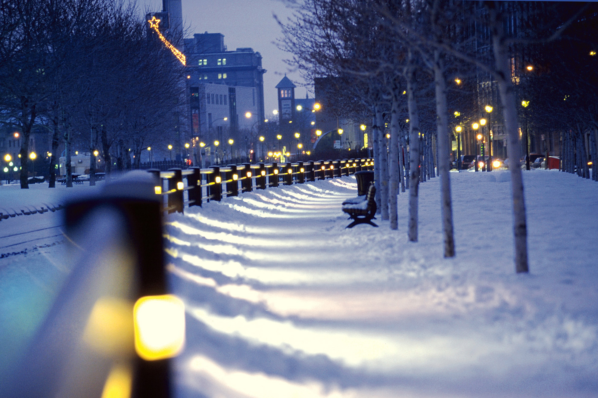 Montreal, Canada, City view by winter