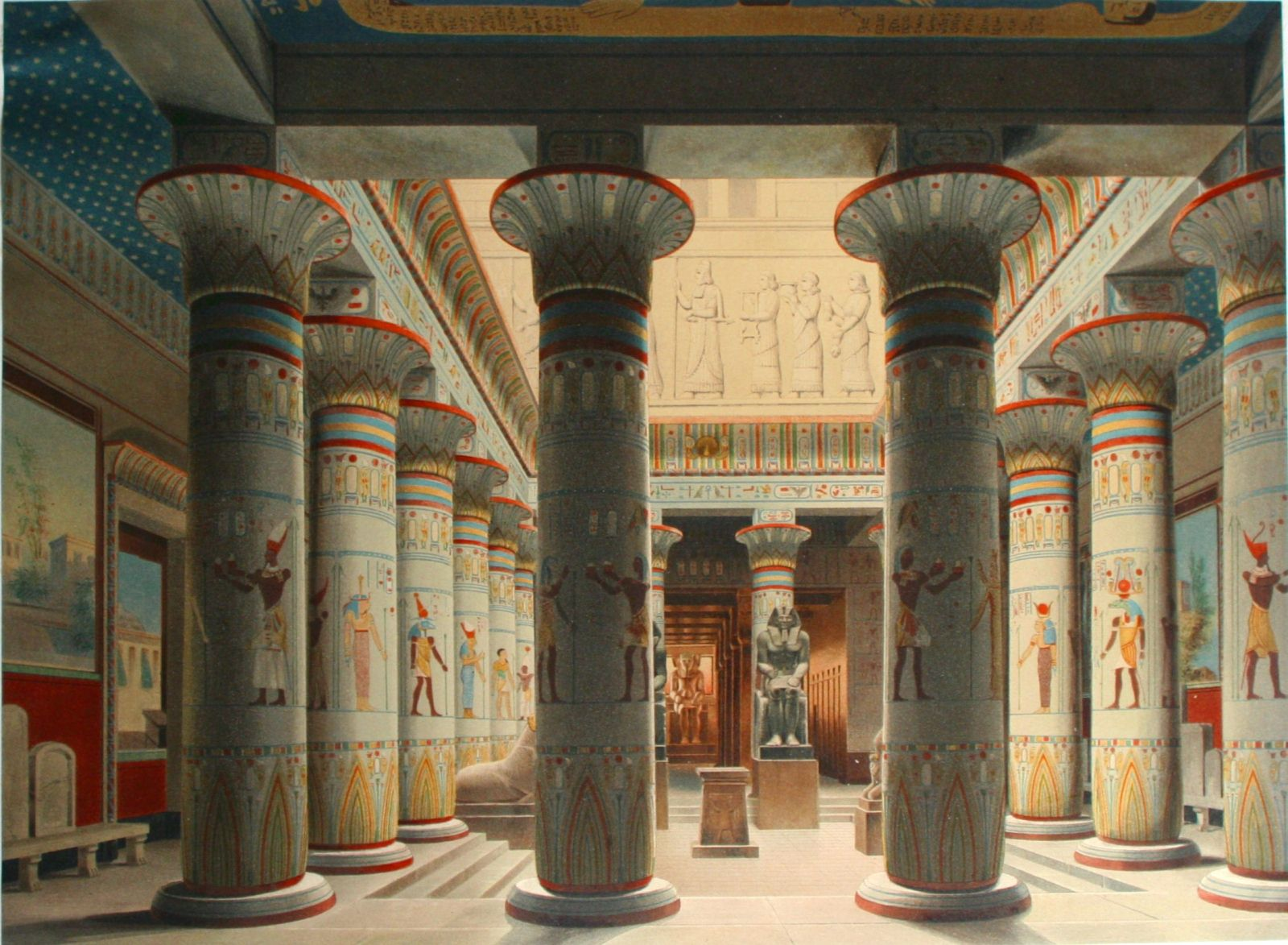 Neues Museum, Berlin, Germany, Egyptian hall with columns