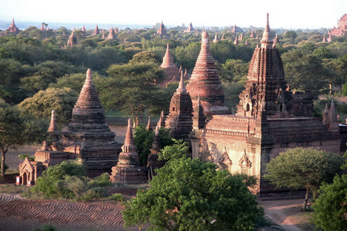 Mystic Holiday, Myanmar, Asia, Temples of Bagan, Close view