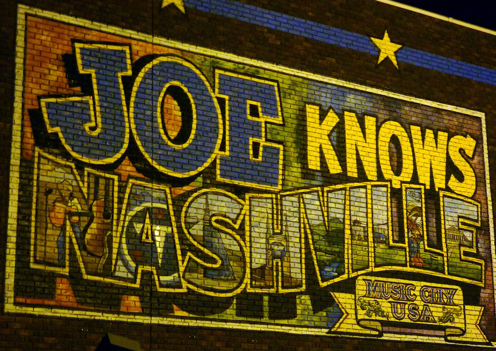 Country Music Birthplace, Nashville, Tennessee, USA, Mural
