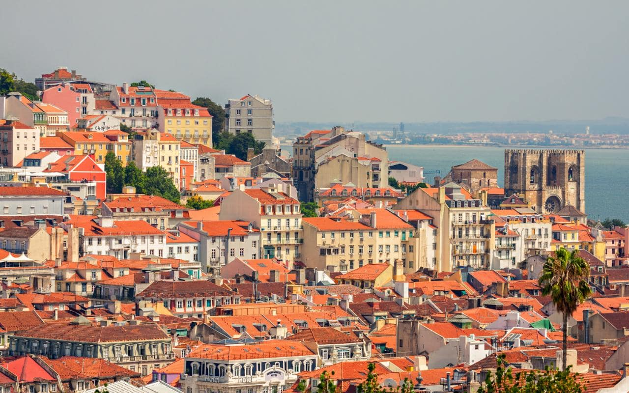 Perfect City Break Holiday, Portugal, Lisbon, Cityscape overview