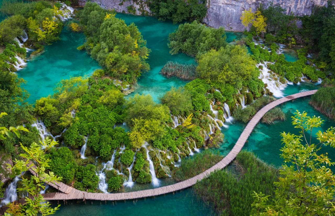 Perfect Summer Holiday Destinations, Croatia, Plitvice park aerial view