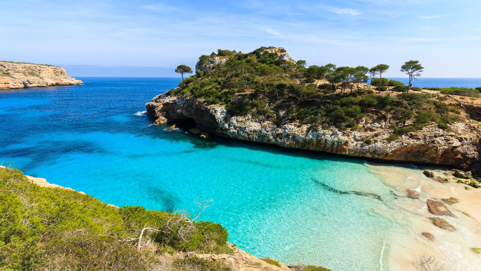 Perfect Summer Holiday Destinations, Mallorca, Remote beach overview