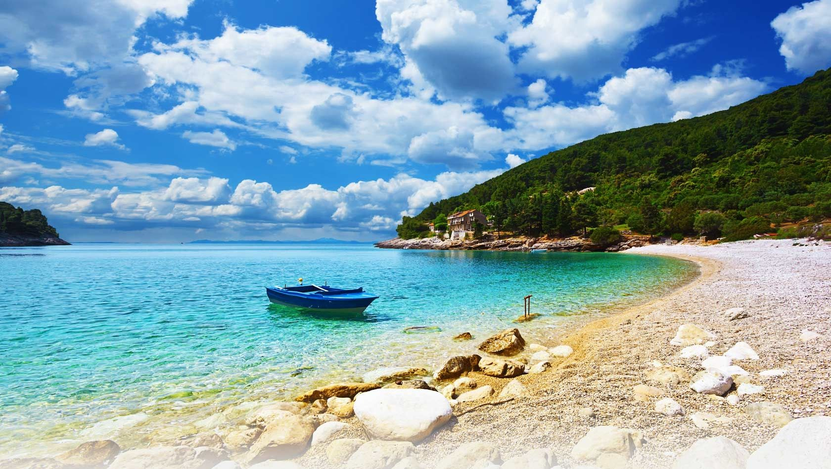 Perfect Summer Holiday Destinations, Croatia, Remote beach view